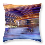 Spin Faster Throw Pillow