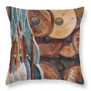 Spindles And Spools Throw Pillow