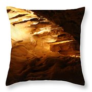 Spindles II - Cave Throw Pillow