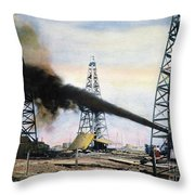 Spindletop Oil Pool, C1906 Throw Pillow