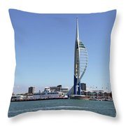 Spinnaker Tower Portsmouth England Throw Pillow