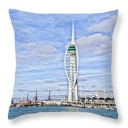 Spinnaker Tower Portsmouth Throw Pillow