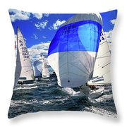 Spinnakers And Sails By Kaye Menner Throw Pillow