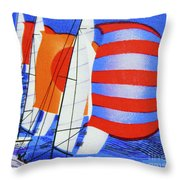 Spinnakers. Throw Pillow