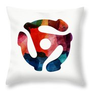 Spinning 45- Art By Linda Woods Throw Pillow