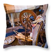 Spinning And Weaving Throw Pillow