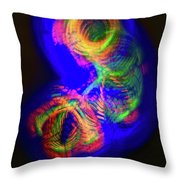 Spinning Color Lights Throw Pillow