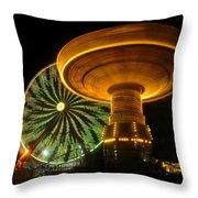 Spinning Fair Fun Throw Pillow
