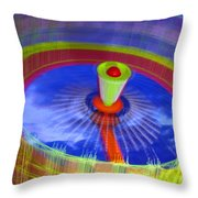 Spinning Fair Ride Throw Pillow