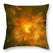 Spinning Firecracker And Bright Colors Throw Pillow