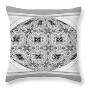 Spinning Globe In Black And White Throw Pillow