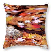 Spinning Leaves Of Autumn Throw Pillow