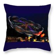 Spinning Lights Throw Pillow