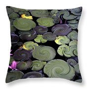 Spinning Lilies Throw Pillow