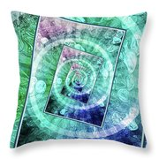 Spinning Nickels Into Infinity Throw Pillow