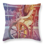 Spinning Tales Throw Pillow