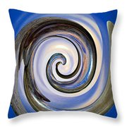 Spinning The Day Away Throw Pillow