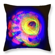 Spinning Universe Light Painting Throw Pillow