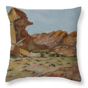 Spinx In The Valley Of Fire Throw Pillow