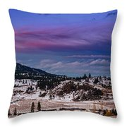 Spion Kop In Winter Throw Pillow by Rod Sterling