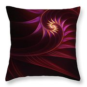 Spira Mirabilis Throw Pillow by John Edwards