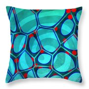 Spiral 4 - Abstract Painting Throw Pillow