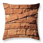 Spiral Bricks Throw Pillow