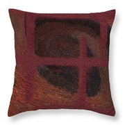 Spiral Browns Painting Throw Pillow