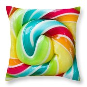 Spiral Candy  Throw Pillow