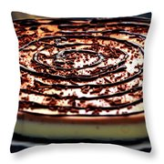 Spiral Chocolate Pudding Throw Pillow