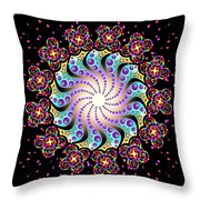 Spiral Dance Throw Pillow