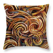 Spiral Journey Throw Pillow