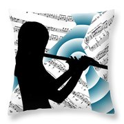 Spiral Music Throw Pillow
