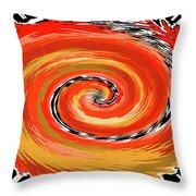 Spiral Of Fire Throw Pillow