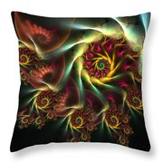 Spiral Of Riches Throw Pillow