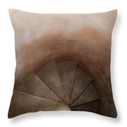 Spiral Of Time Throw Pillow