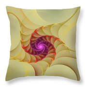 Spiral Rainbow Of Color Throw Pillow