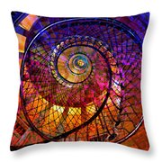 Spiral Spacial Abstract Square Throw Pillow