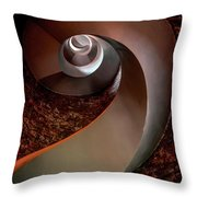 Spiral  Staircase In An Old Lighthouse Throw Pillow
