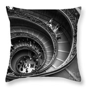 Spiral Stairs Horizontal Throw Pillow