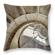 Spiral Stairway Throw Pillow