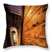 Spiral Stairwell Throw Pillow