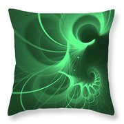 Spiral Thoughts Green Throw Pillow