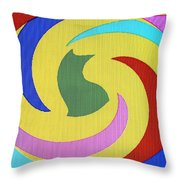 Spiral Three Throw Pillow