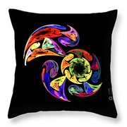 Spiral Toucan Throw Pillow
