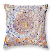 Spiral Vibrations And Movement Throw Pillow