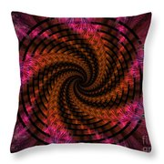 Spiraling Into The Abyss Throw Pillow