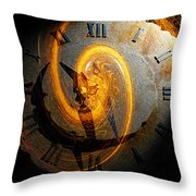 Spiraling Through Time Throw Pillow