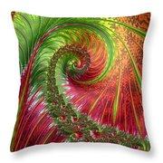 Spiralling Fractal Three Throw Pillow