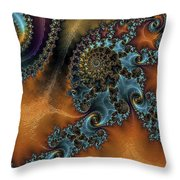 Spirals Throw Pillow